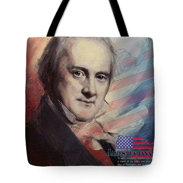 James Buchanan Tote Bag by Corporate Art Task Force