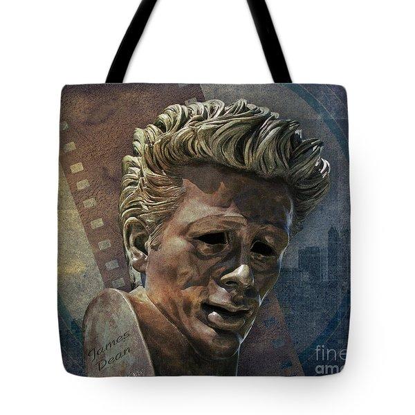 James Dean Tote Bag by Bedros Awak