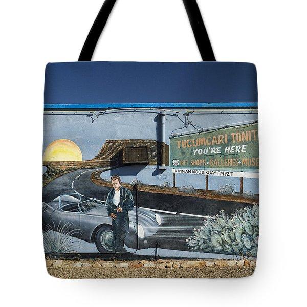 James Dean Mural in Tucumcari on Route 66 Tote Bag by Carol Leigh