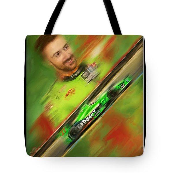 James Hinchcliffe Tote Bag by Blake Richards