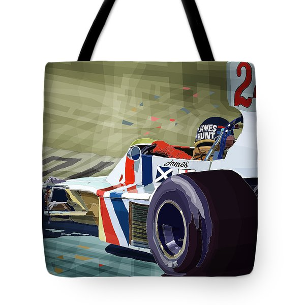 James Hunt 1975 Hesketh 308b Tote Bag by Yuriy Shevchuk