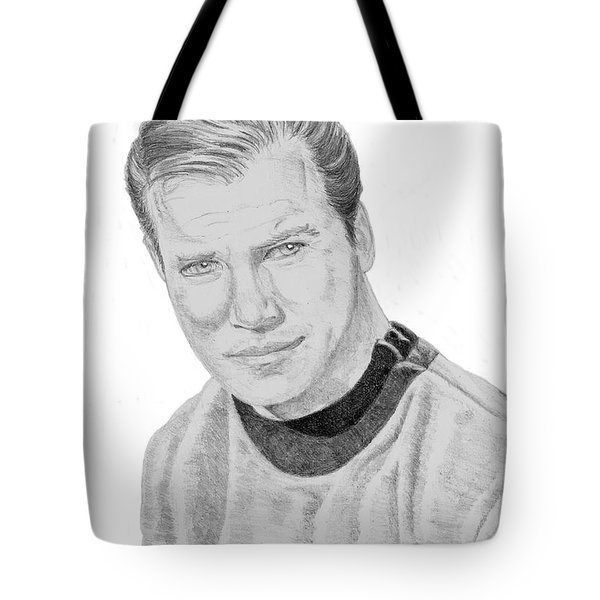 James Tiberius Kirk Tote Bag by Thomas J Herring