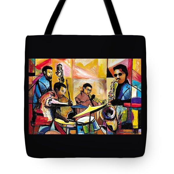 Jammin N Rhythm Tote Bag by Everett Spruill