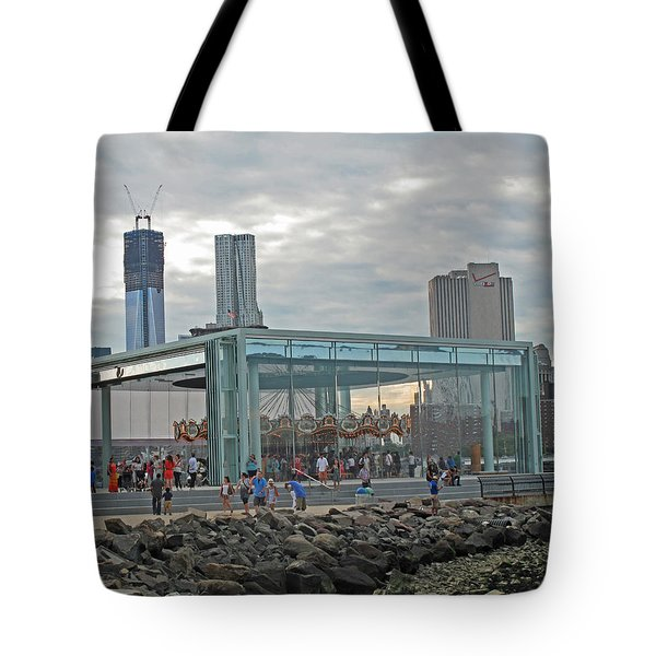 Jane's Carousel Tote Bag by Barbara McDevitt