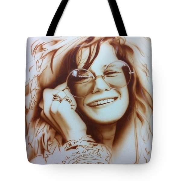'janis' Tote Bag by Christian Chapman Art