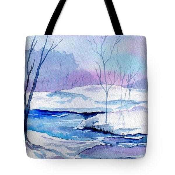 January Snowscape Tote Bag by Brenda Owen