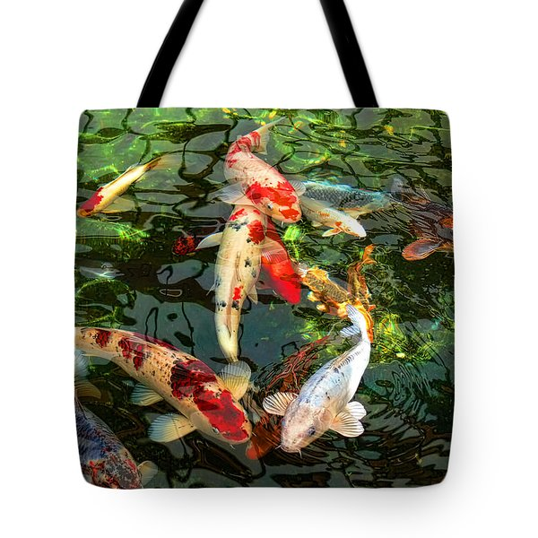 Japanese Koi Fish Pond Tote Bag by Jennie Marie Schell