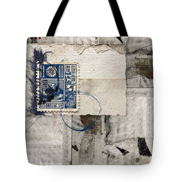 Japanese Postage 20 Sen Tote Bag by Carol Leigh
