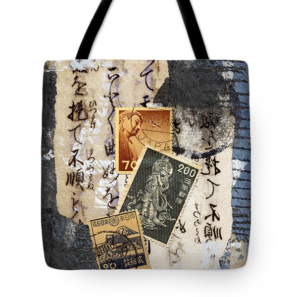 Japanese Postage Three Tote Bag by Carol Leigh