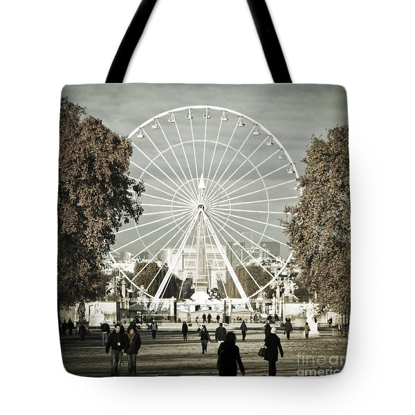 Jardin Des Tuileries Park Paris France Europe  Tote Bag by Jon Boyes