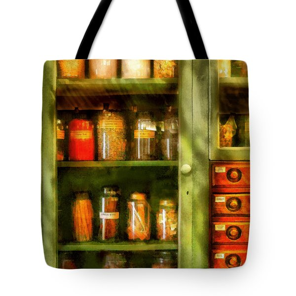 Jars - Ingredients II Tote Bag by Mike Savad