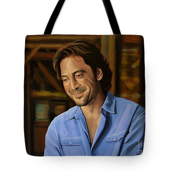 Javier Bardem Painting Tote Bag by Paul Meijering