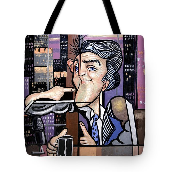 Jay Leno You Been Cubed Tote Bag by Anthony Falbo