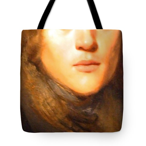 Jay Lievens Self Portrait Up Close Tote Bag by Cora Wandel