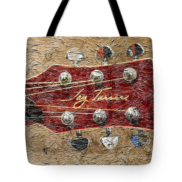 Jay Turser Guitar Head - Red Guitar - Digital Painting Tote Bag by Barbara Griffin