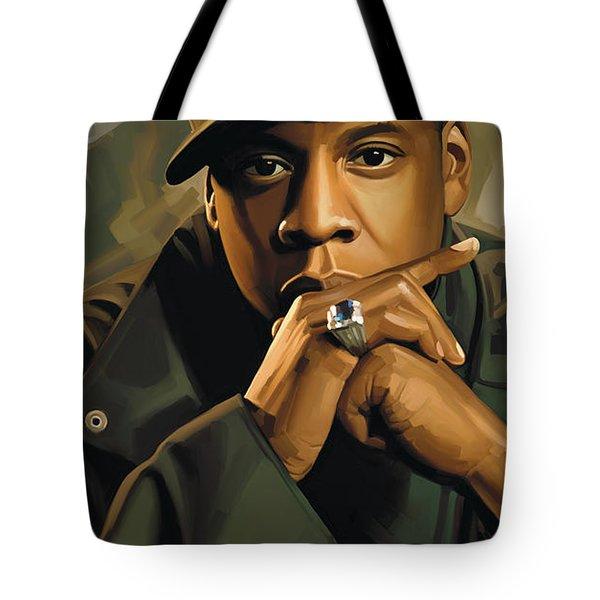 Jay-z Artwork 2 Tote Bag by Sheraz A