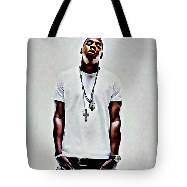 Jay-z Portrait Tote Bag by Florian Rodarte