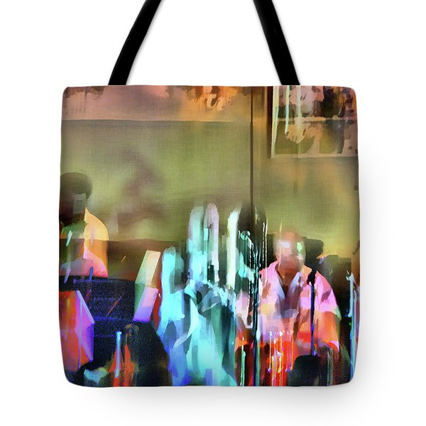 Jazz Band Tote Bag by Jeff Breiman