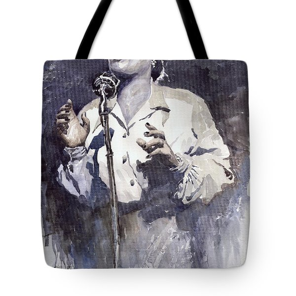 Jazz Billie Holiday Lady Sings The Blues Tote Bag by Yuriy  Shevchuk