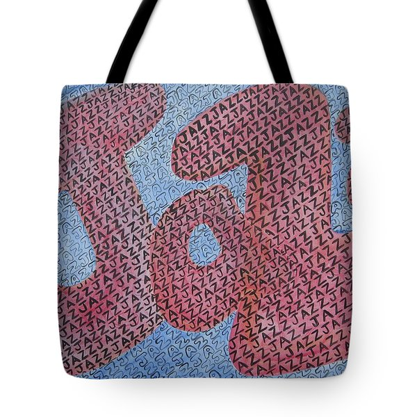 Jazz Tote Bag by Diane Pape