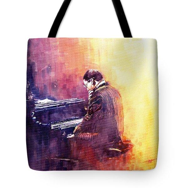 Jazz Herbie Hancock  Tote Bag by Yuriy  Shevchuk
