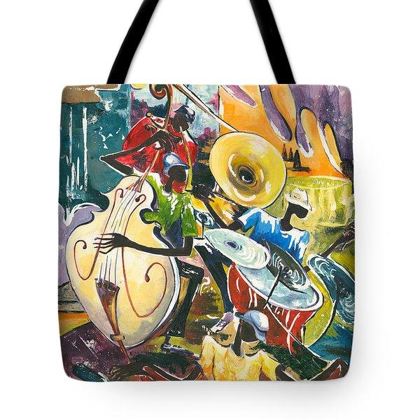 Jazz No. 4 Tote Bag by Elisabeta Hermann