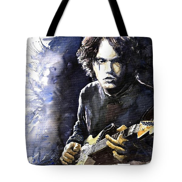 Jazz Rock John Mayer 03  Tote Bag by Yuriy  Shevchuk