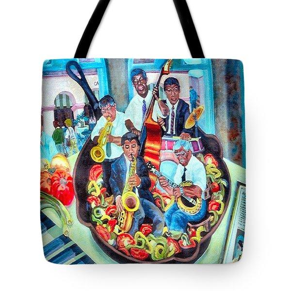 Jazz Saute' Tote Bag by Lisa Tygier Diamond