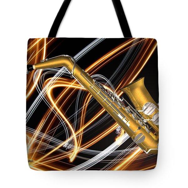 Jazz Saxaphone  Tote Bag by Louis Ferreira