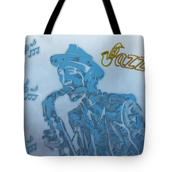 Jazz Saxophone Tote Bag by Dan Sproul