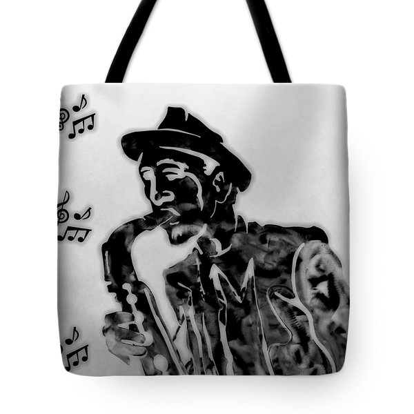 Jazz Saxophone Man Tote Bag by Dan Sproul