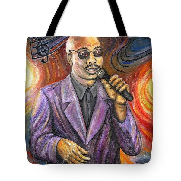 Jazz Singer Tote Bag by Linda Mears