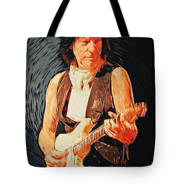 Jeff Beck Tote Bag by Taylan Apukovska