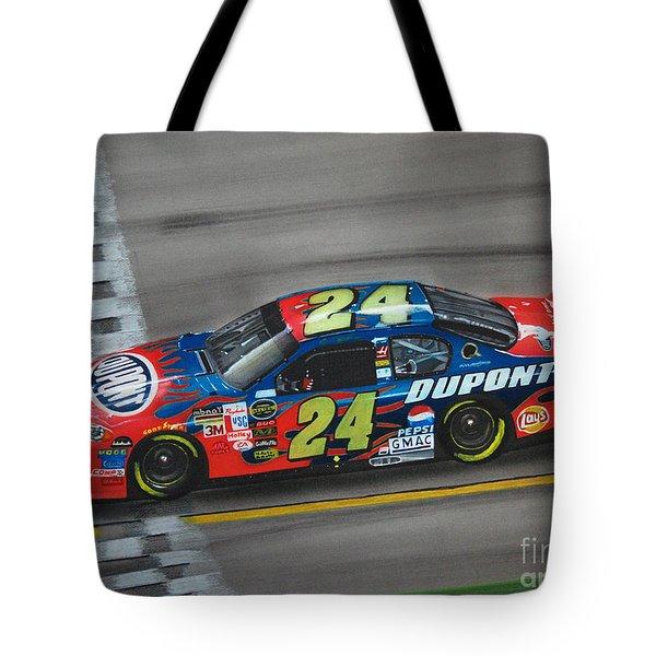 Jeff Gordon Dupont Chevrolet Tote Bag by Paul Kuras