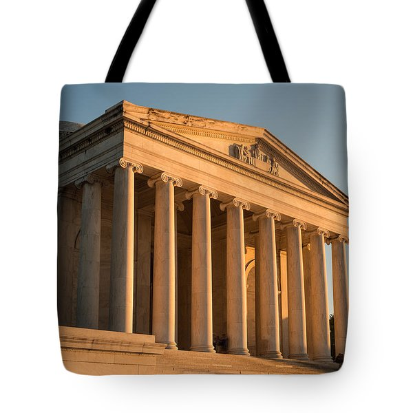 Jefferson Memorial Sunset Tote Bag by Steve Gadomski