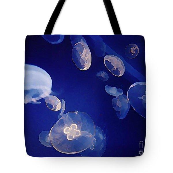 Jelly Fish Tote Bag by John Malone