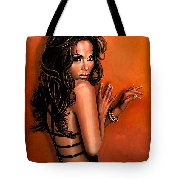 Jennifer Lopez Tote Bag by Paul  Meijering
