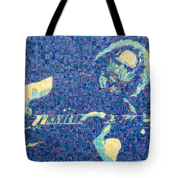 Jerry Garcia Chuck Close style Tote Bag by Joshua Morton