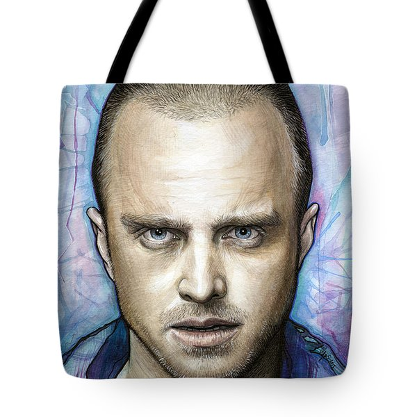 Jesse Pinkman - Breaking Bad Tote Bag by Olga Shvartsur