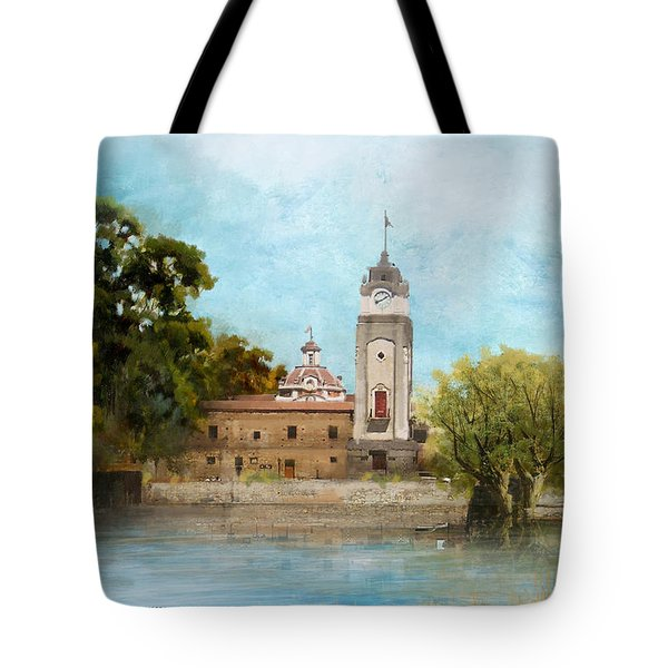 Jesuit Block And Estancias Of Cordoba Tote Bag by Catf