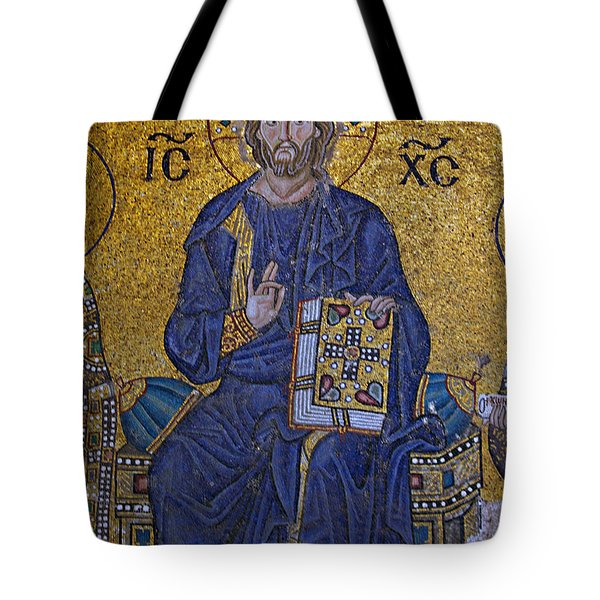 Jesus Christ Mosaic Tote Bag by Stephen Stookey