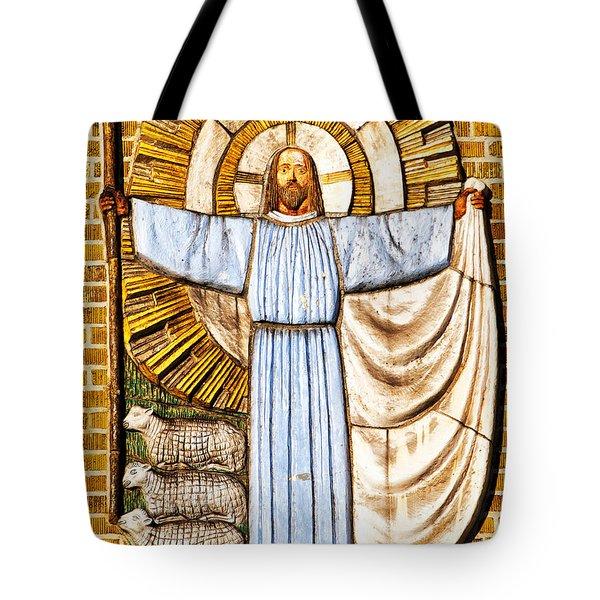 Jesus Christ the Shepherd Tote Bag by Antony McAulay