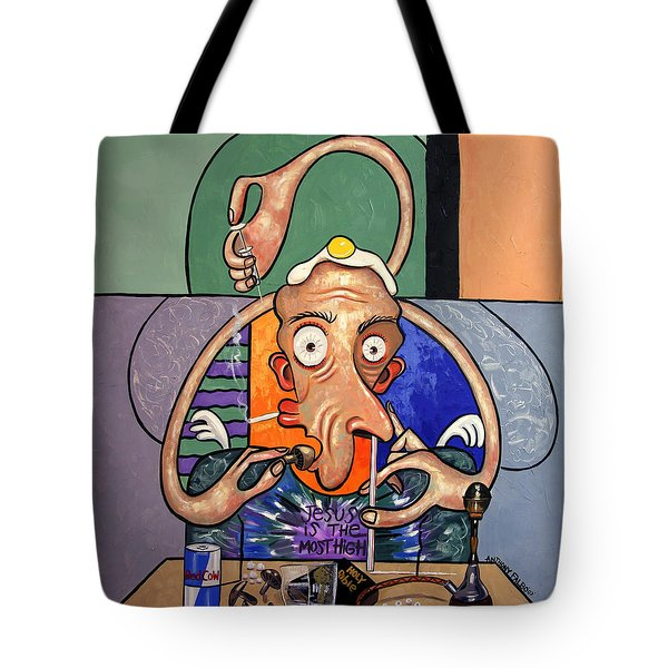 Jesus Is The Most High Tote Bag by Anthony Falbo