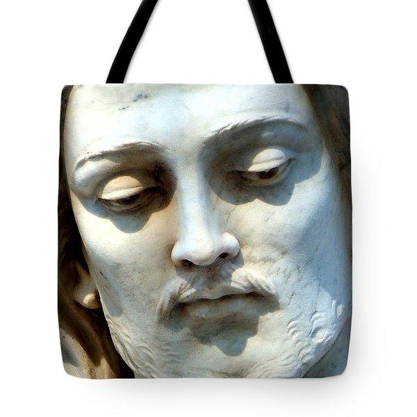 Jesus Statue Tote Bag by David G Paul