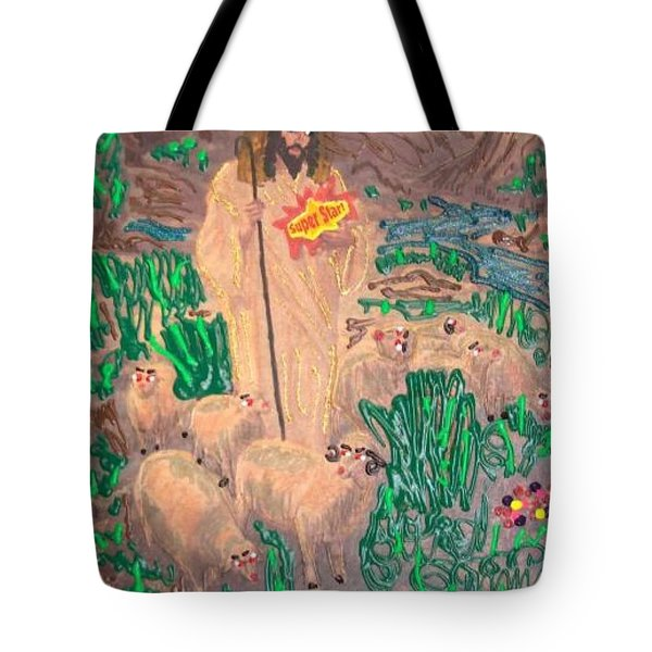 Jesus The Celebrity Tote Bag by Lisa Piper Menkin Stegeman