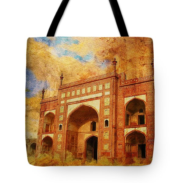 Jhangir Tomb Tote Bag by Catf