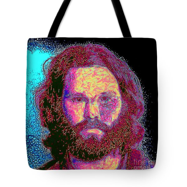 Jim Morrison 20130329 square Tote Bag by Wingsdomain Art and Photography
