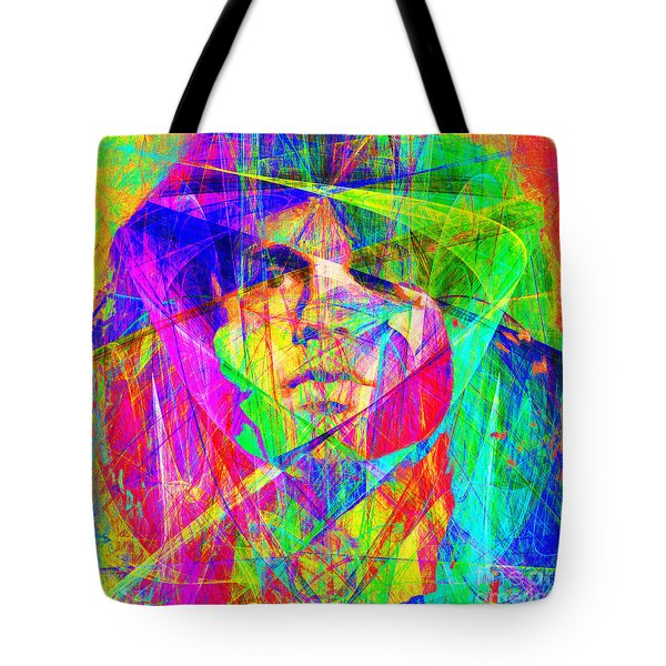Jim Morrison 20130613 square Tote Bag by Wingsdomain Art and Photography