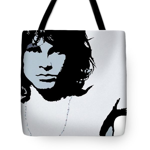 Jim Morrison Tote Bag by Bryan Dubreuiel