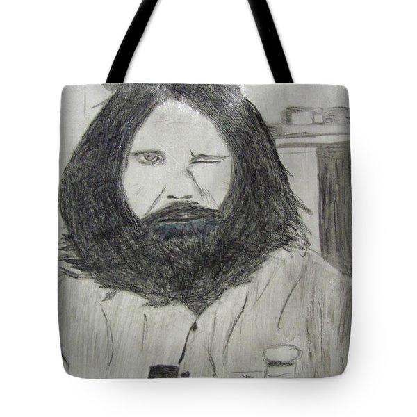 Jim Morrison Pencil Tote Bag by Jimi Bush